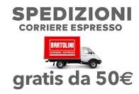 Spedizioni con Corriere Espresso Gratuita per ordini a partire da 50 euro