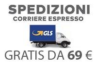 Spedizioni con Corriere Espresso Gratuita per ordini a partire da 69 euro